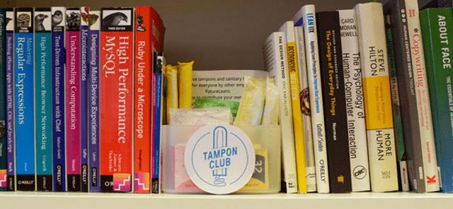 The Tampon Club box at FutureLearn
