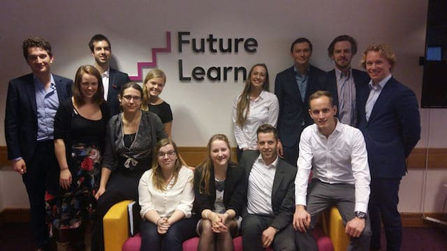 Student assistants from the University of Groningen visit FutureLearn