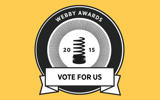 A vote for us in the Webby Awards 2015 badge